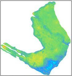 Normalized average impedance map of Marlim reservoir - Built with Isatis