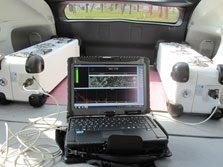 Embedded in a vehicule, IRSN Ulysse gamma spectrometry system maps radionuclides over large areas