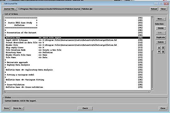 Scripting procedures in Isatis