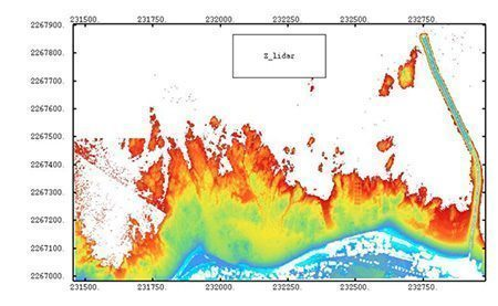 "Coastal mapping ""Le Croisic jetty"" - Courtesy IFREMER/DEL/AO"