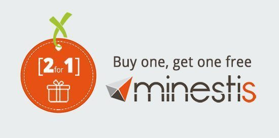 Minestis offer 2018 - Buy one, get one free