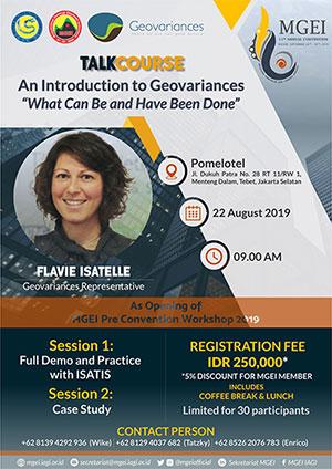 Geovariances at MGEI
