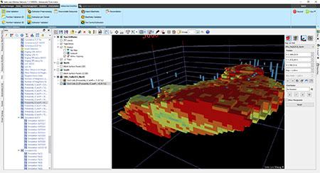 Isatis.neo Mining - Resources Workflow - Simulation & risk analysis