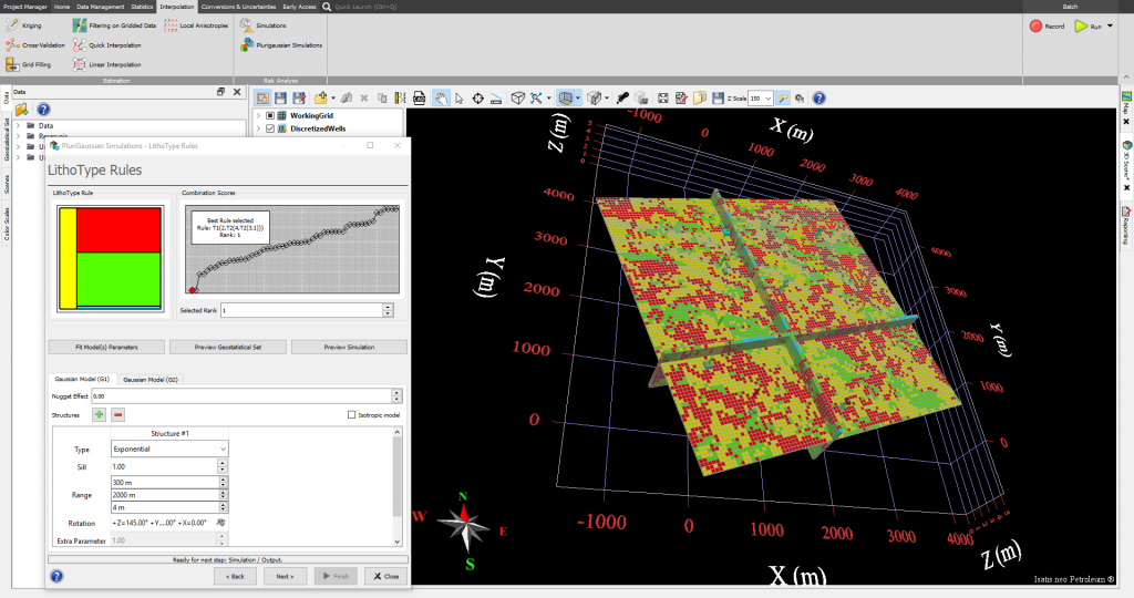 Isatis.neo interface for Plurigaussian Simulations