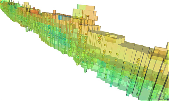 Geotechnical parameter simulation with Isatis.neo